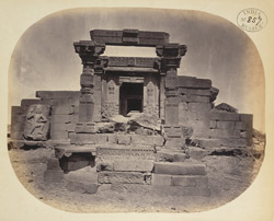 Front view of the remains of the second temple at Dhotra, Buldana District, Berar